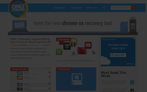 Access omgchrome.com using Hola Unblocker web proxy