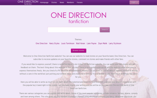 Access onedirectionfanfiction.org using Hola Unblocker web proxy