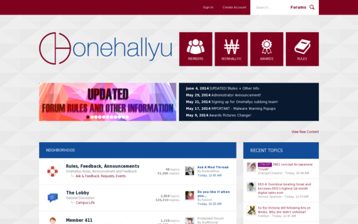 Access onehallyu.com using Hola Unblocker web proxy