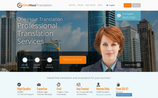 Access onehourtranslation.com using Hola Unblocker web proxy