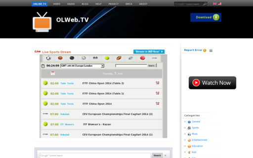 Access online-tv.me using Hola Unblocker web proxy