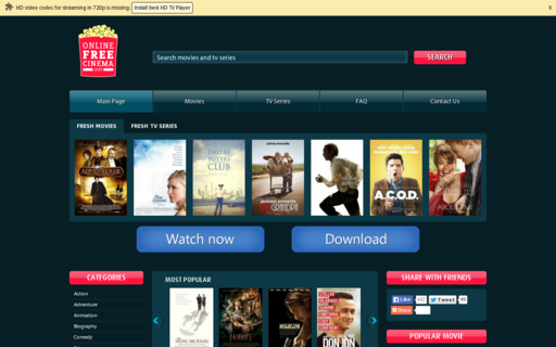 Access onlinefreecinema.net using Hola Unblocker web proxy