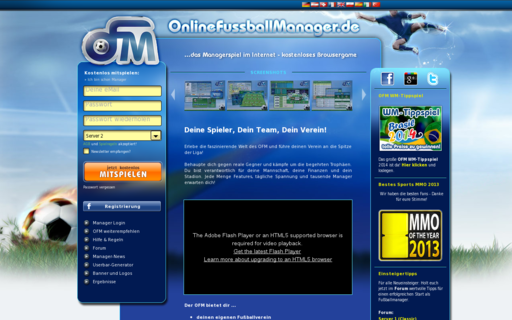 Access onlinefussballmanager.de using Hola Unblocker web proxy