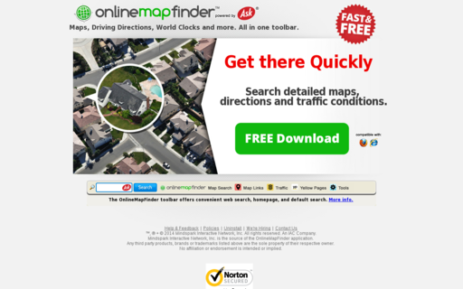 Access onlinemapfinder.com using Hola Unblocker web proxy
