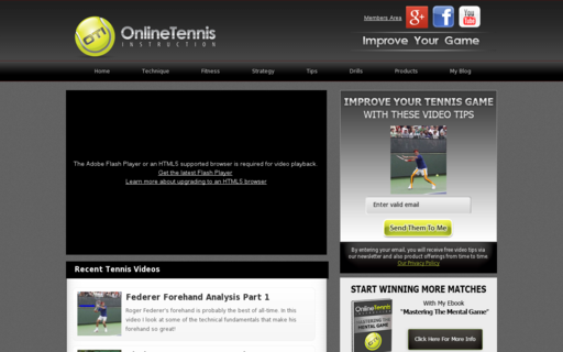 Access onlinetennisinstruction.com using Hola Unblocker web proxy