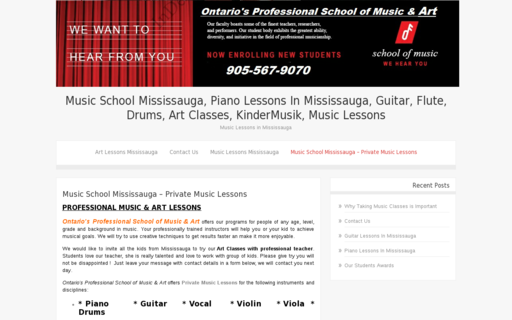 Access ontariomusicschool.ca using Hola Unblocker web proxy