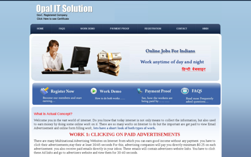 Access opalonlinejobs.com using Hola Unblocker web proxy