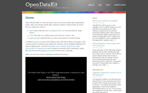 Access opendatakit.org using Hola Unblocker web proxy