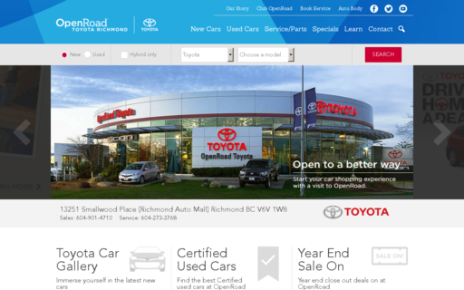 Access openroadtoyotarichmond.com using Hola Unblocker web proxy