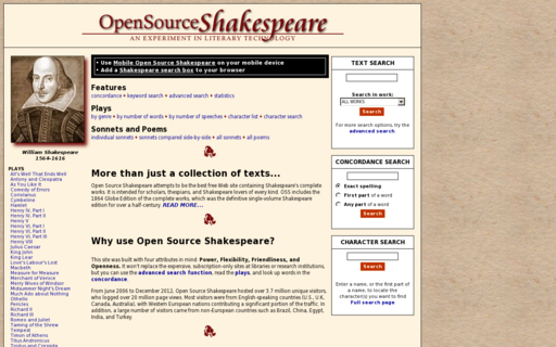 Access opensourceshakespeare.org using Hola Unblocker web proxy