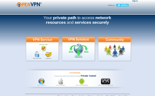 Access openvpn.net using Hola Unblocker web proxy