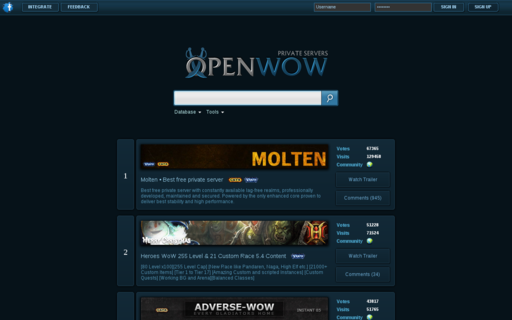 Access openwow.com using Hola Unblocker web proxy
