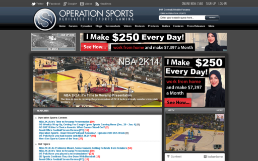 Access operationsports.com using Hola Unblocker web proxy