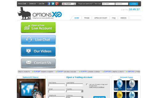 Access optionsxo.com using Hola Unblocker web proxy