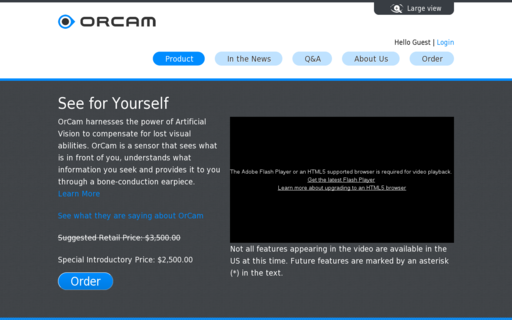 Access orcam.com using Hola Unblocker web proxy