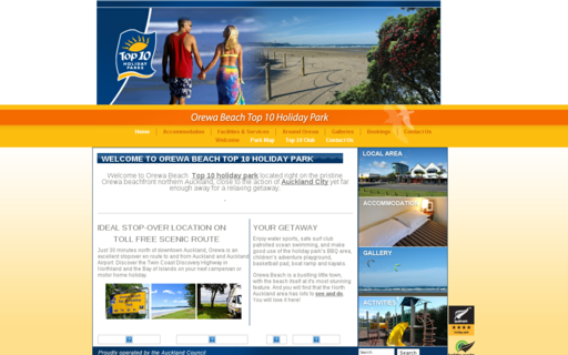 Access orewabeachholidaypark.co.nz using Hola Unblocker web proxy