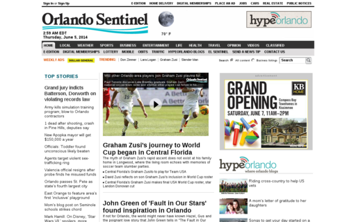 Access orlandosentinel.com using Hola Unblocker web proxy