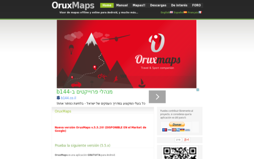 Access oruxmaps.com using Hola Unblocker web proxy