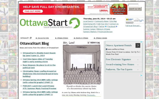 Access ottawastart.com using Hola Unblocker web proxy