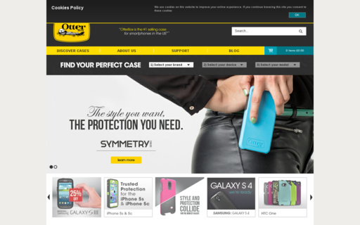 Access otterbox.co.uk using Hola Unblocker web proxy