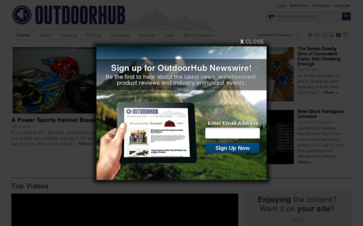 Access outdoorhub.com using Hola Unblocker web proxy