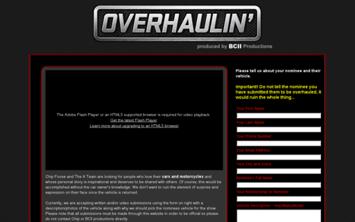 Access overhaulin.tv using Hola Unblocker web proxy
