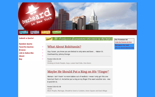 Access overheardinnewyork.com using Hola Unblocker web proxy