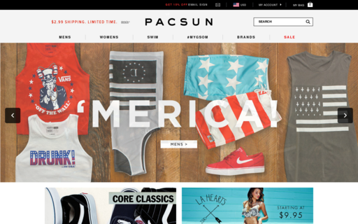 Access pacsun.com using Hola Unblocker web proxy