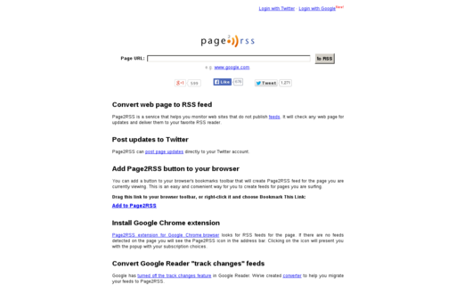 Access page2rss.com using Hola Unblocker web proxy