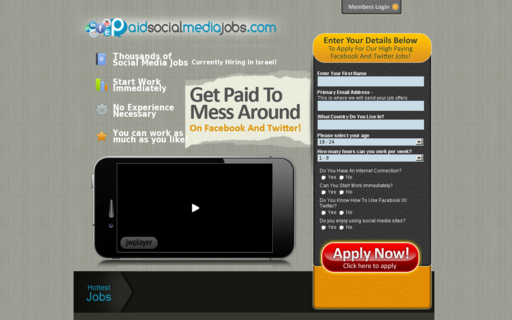 Access paidsocialmediajobs.com using Hola Unblocker web proxy