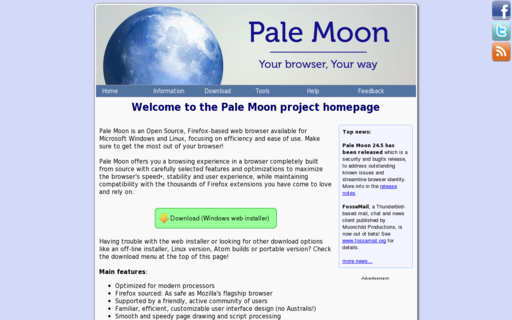 Access palemoon.org using Hola Unblocker web proxy