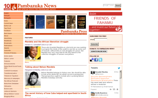 Access pambazuka.org using Hola Unblocker web proxy
