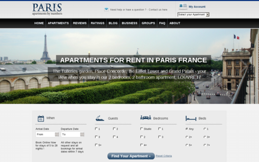 Access parisapartmentsbynumbers.com using Hola Unblocker web proxy