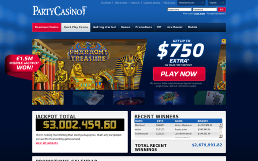 Access partycasino.com using Hola Unblocker web proxy