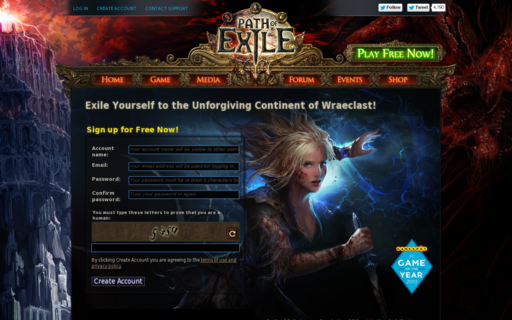 Access pathofexile.com using Hola Unblocker web proxy