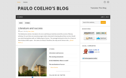 Access paulocoelhoblog.com using Hola Unblocker web proxy