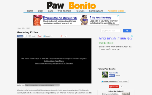 Access pawbonito.com using Hola Unblocker web proxy