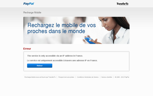 Access paypal-mobilereload.com using Hola Unblocker web proxy