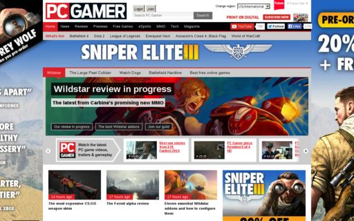 Access pcgamer.com using Hola Unblocker web proxy