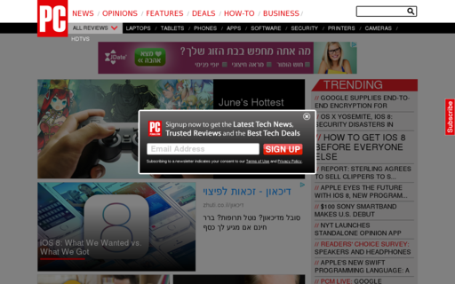 Access pcmag.com using Hola Unblocker web proxy