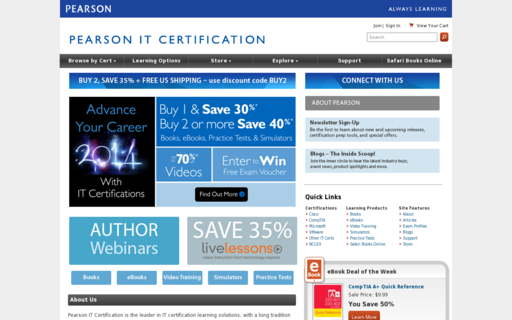 Access pearsonitcertification.com using Hola Unblocker web proxy