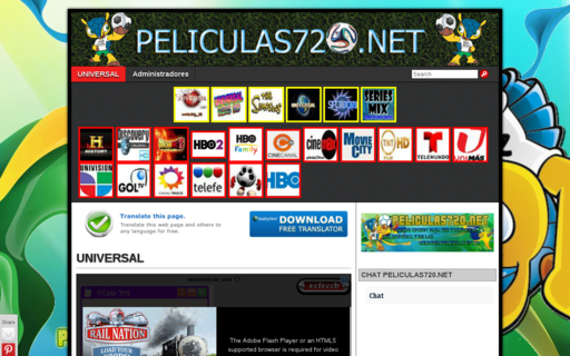 Access peliculas720.net using Hola Unblocker web proxy