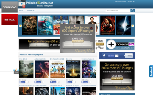 Access peliculashdonline.net using Hola Unblocker web proxy