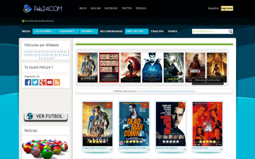 Access pelis24.com using Hola Unblocker web proxy