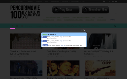 Access pencurimovie.cc using Hola Unblocker web proxy