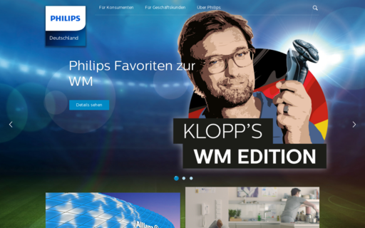 Access philips.de using Hola Unblocker web proxy
