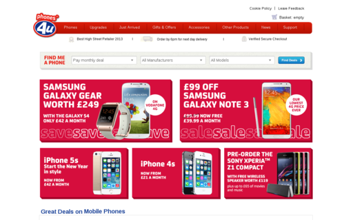 Access phones4u.co.uk using Hola Unblocker web proxy