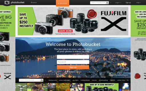 Access photobucket.com using Hola Unblocker web proxy