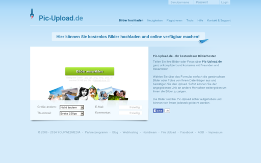 Access pic-upload.de using Hola Unblocker web proxy