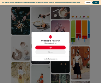 Access pinterest.com using Hola Unblocker web proxy